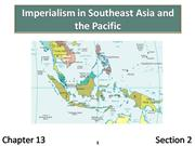 13-2 Imperialism in Southeast Asia