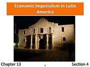 13-4 Economic Imperialism in Latin America