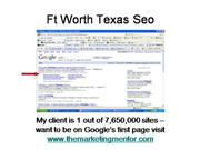 Ft Worth Texas Seo
