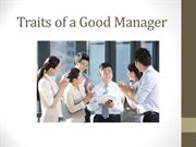 Traits of a Good Manager