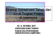 Farm soil conservation in Indonesia
