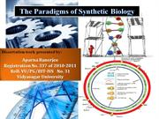 The Paradigms of Synthetic Biology