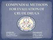 Compedial method for evaluaion of