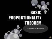 BASIC PROPORTIONALITY THEOREM
