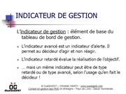 Indicateur de gestion
