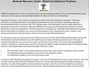 Muskoka Recovery Center - Relief from Addiction Problems