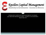 Epsilon Capital Managements First Quarter Middle East  Africa Economi