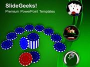 SPORTS CASINO CHIPS TO PLAY AND WIN GAME PPT TEMPLATE