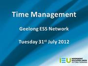 time management geelong july 31 2012