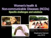 Women and NCDs