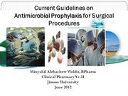 Antimicrobial Prophylaxis for Surgical Procedures