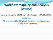Workflow Mapping and Analysis