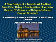 Design of Tunable Band Stop Filter using DGS-Technique and Varactor