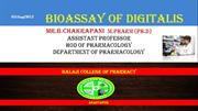 new Bioassay of digitalis