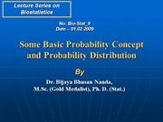 Probability Concept and Probability Distribution_Contd