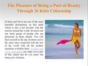 The Pleasure of Being a Part of Beauty Through St Kitts Citizenship