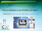 How to Restore Lost Partition on Mac