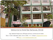 Hotel Sai Sahavas, Budget hotels in Shirdi near temple