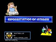Exponentiation of integers