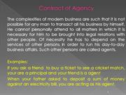 BL 9 Contract of Agency