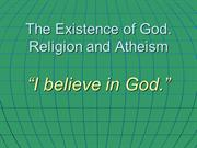 1. The Existence of God
