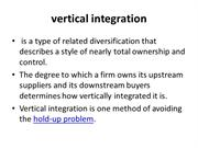 vertical integration ppt T
