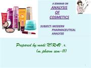analysis of cosmetic by Nirav
