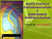Quality Control of radiopharmaceutical by Nirav