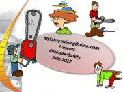 ChainSaw Safety June 2012