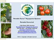 Portable Farms Ltd Presents Portable Farms Aquaponics Systems