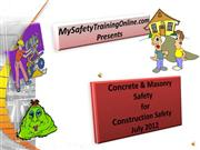 Concrete & Masonry Safety 5-2012