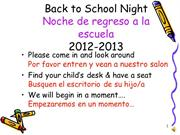 Back to School 2012