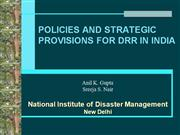 Disaster risk reduction provisions