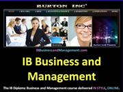 IB Business and Management Accounts and Finance 3.2 Investment Apprais