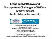 SP JAIN Economic Meltdown and Management Challenges of NGOs - A way fo