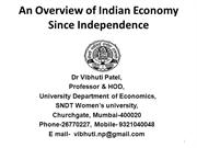 Vibhuti Patel An Overview of Indian Eco Since Independence 10-7-2012