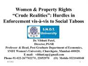 Vibhuti Patel Property Inheritance by the Women in India Issues and Ch
