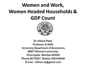 Vibhuti Patel WHH Women and Work GDP Count