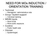 Need for Induction Training