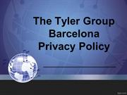 The Tyler Group Barcelona Privacy Policy