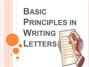 Basic Principles in Writing Letters