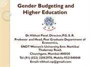 Gender Budgeting and Higher Education by Prof. Vibhuti Patel