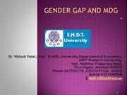 Gender Gap & MDG by Prof. Vibhuti Patel