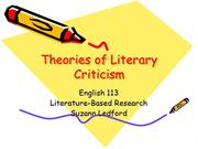 Theories of literary criticism