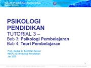 HBEF2103 (T3) Psikologi Pendidikan