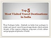 Top 5 Most Visited Travel Destinations in India