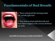Fundamentals of Bad Breath