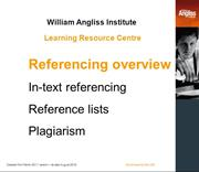 Referencing - Short overview
