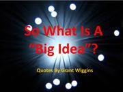 So What Is A Big Idea