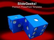 SPORTS CASINO THEME DICE TO SHOW LIFESTYLE PPT TEMPLATE